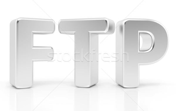Ftp Sign. File Transfer Protocol. 3d concept Stock photo © blotty