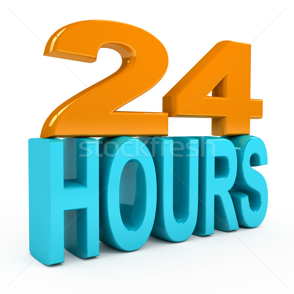 24 hours concept over white background Stock photo © blotty