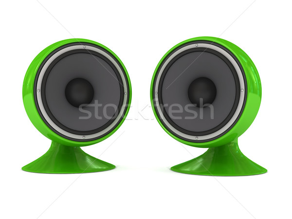 Speaker over white background Stock photo © blotty