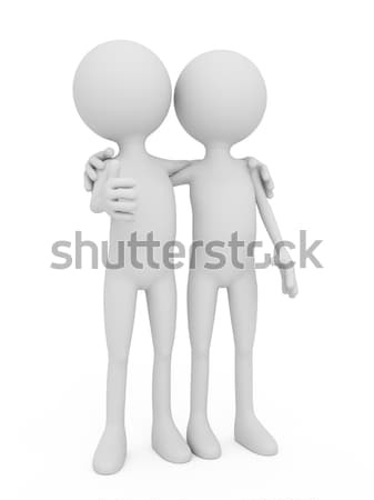 3d mensen menselijke karakter vrienden 3d render illustratie Stockfoto © blotty