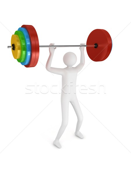 Barbell on white background Stock photo © blotty