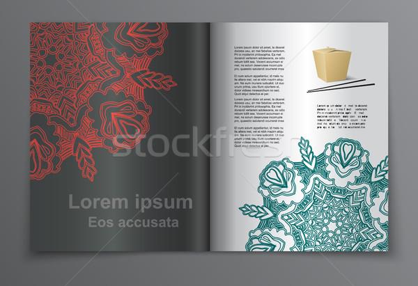 Magazine lay-out vector ingesteld brochure poster Stockfoto © blotty
