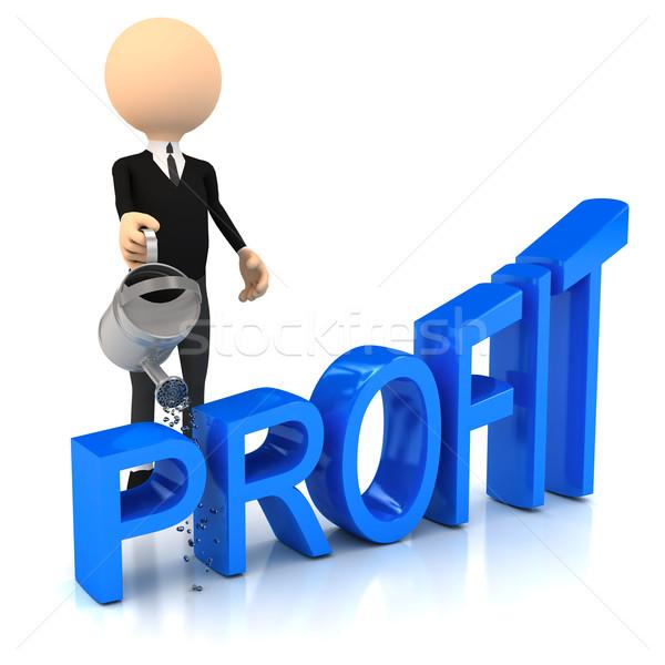 3 ª persona beneficio ordenador generado imagen negocios Foto stock © blotty