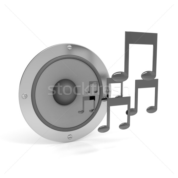 3d notes with speaker Stock photo © blotty