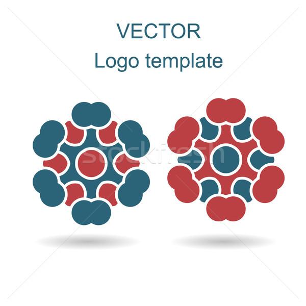 аннотация логотип вектора дизайн шаблона бизнеса Creative Сток-фото © blotty