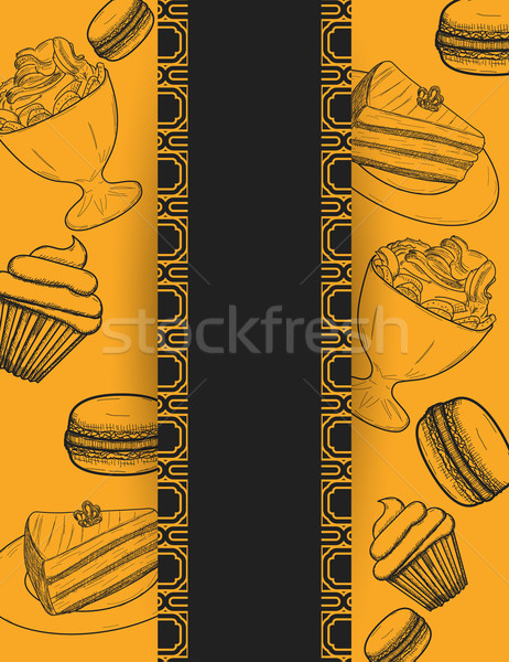 Handdrawn menu for cafe, coffee house Stock photo © blotty