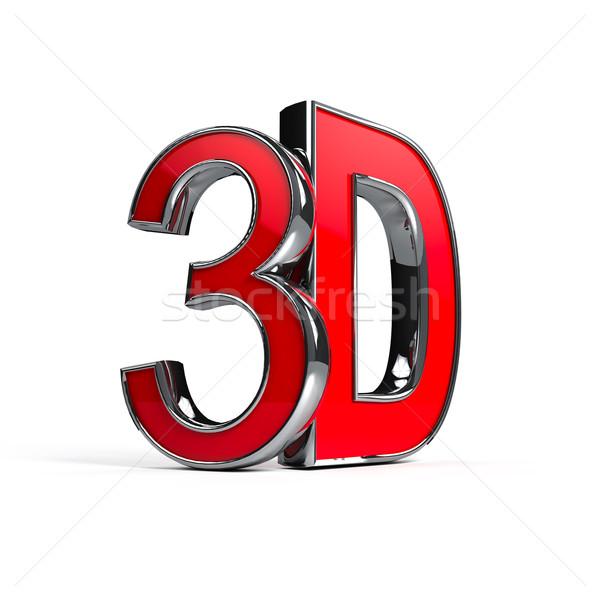 Parola 3D bianco computer generato immagine Foto d'archivio © blotty