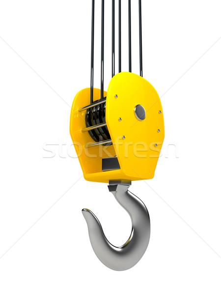 Stok fotoğraf: Endüstriyel · kanca · asılı · zincir · inşaat · çalışmak