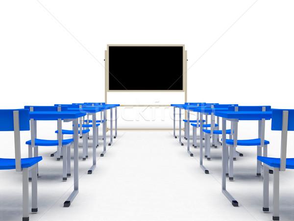 Publiczności biały komputera wygenerowany obraz szkoły Zdjęcia stock © blotty