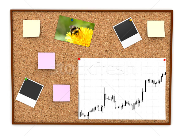 Corkboard with paper sticker Stock photo © blotty