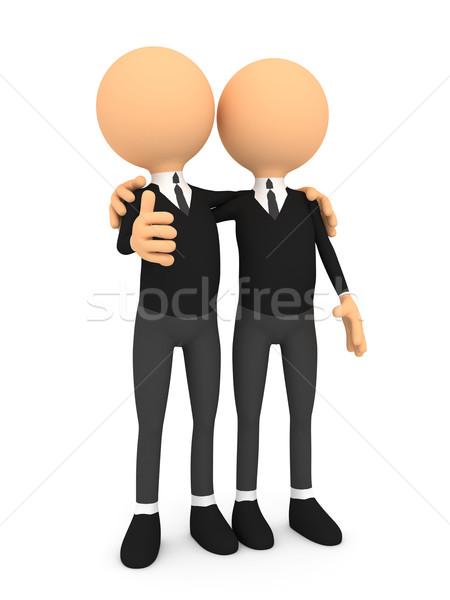 3d osób ludzi charakter znajomych 3d ilustracja Zdjęcia stock © blotty