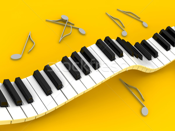 Piano over background Stock photo © blotty