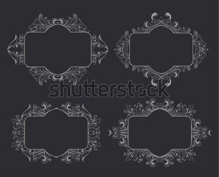 ヴィンテージ フローラル フレーム デザイン ベクトル ストックフォト © blotty