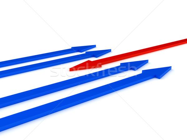 Oppositie witte computer gegenereerde afbeelding internet Stockfoto © blotty