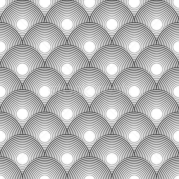 Vector seamless pattern. Abstract stylish background Stock photo © blotty