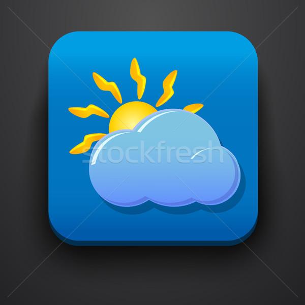 Tempo símbolo ícone azul computador globo Foto stock © blotty