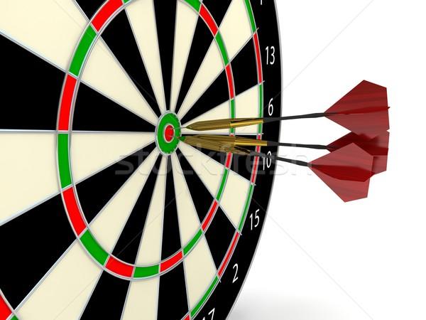 Darts játék 3D renderelt kép jókedv Stock fotó © blotty