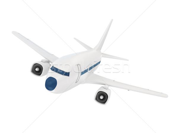 самолет белый 3D оказанный изображение бизнеса Сток-фото © blotty