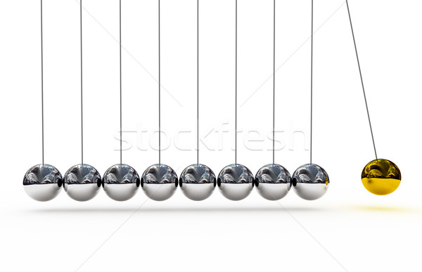 Shiny pendulums over white background Stock photo © blotty