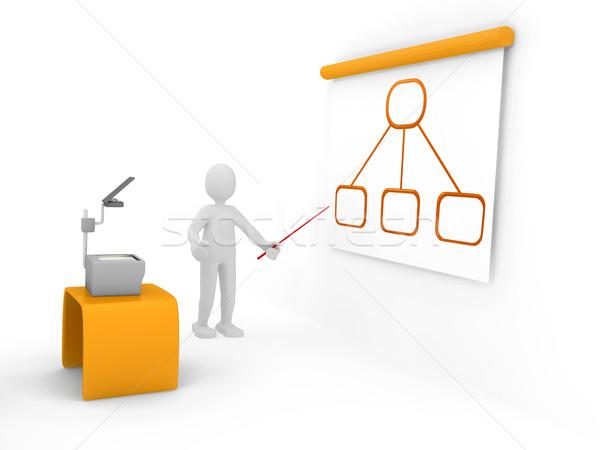 3D диаграммы технологий фон знак сеть Сток-фото © blotty
