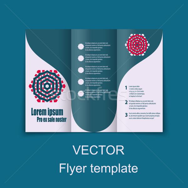 Brochures ontwerp sociale diagram presentatie Stockfoto © blotty
