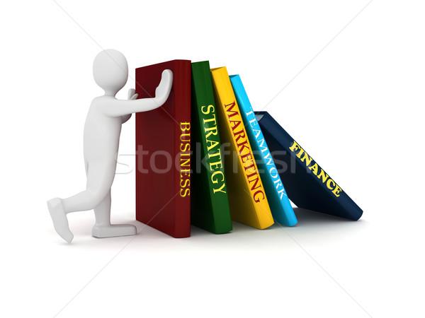 Negocios libro 3 ª persona prestados imagen cuero Foto stock © blotty