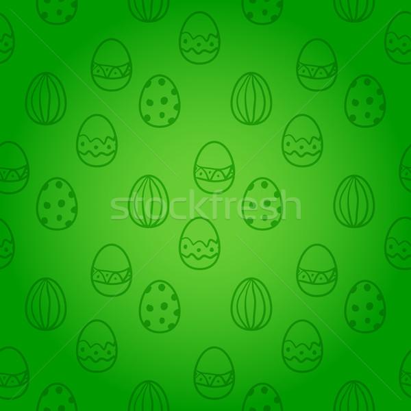 Huevo de Pascua sin costura vector patrón vacaciones papel Foto stock © blotty