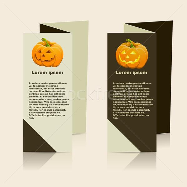Vektör broşür düzen tasarım şablonu eps10 örnek Stok fotoğraf © blotty