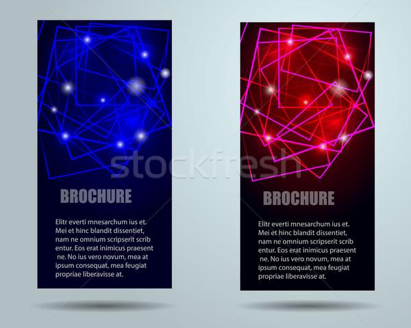 Colección banner diseno vector eps10 ordenador Foto stock © blotty