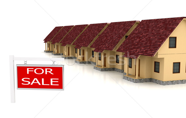 Group of houses on sale Stock photo © blotty