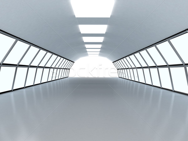 Tunnel with white wall Stock photo © blotty