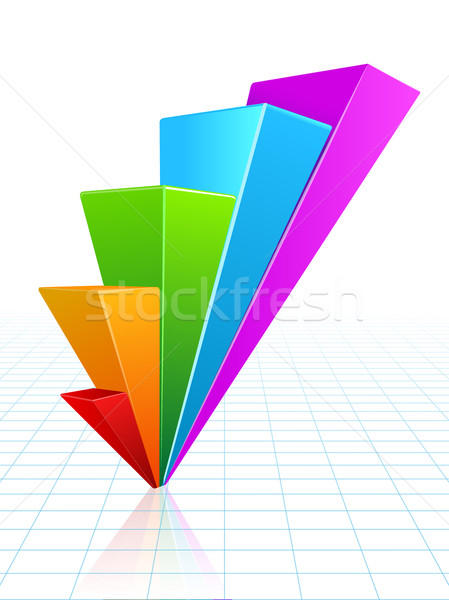 üzleti grafikon vektor növekedés haladás üzlet pénz Stock fotó © blotty
