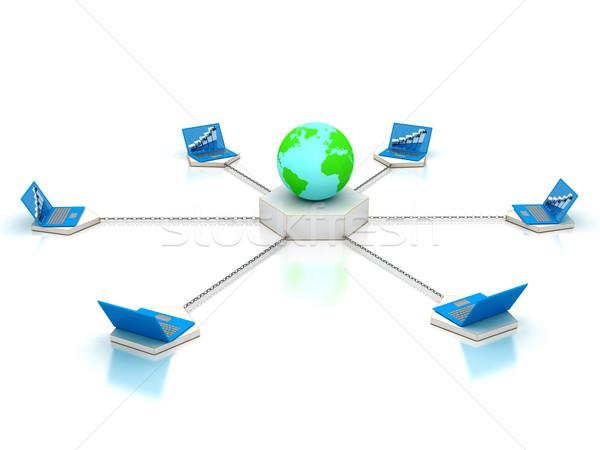 通信 3D レンダリング 画像 ビジネス ビジネスマン ストックフォト © blotty