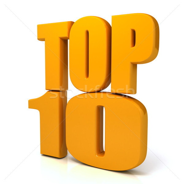 Top 10 words over white background Stock photo © blotty