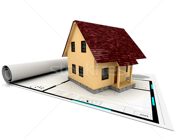 individual house for sale on plan Stock photo © blotty