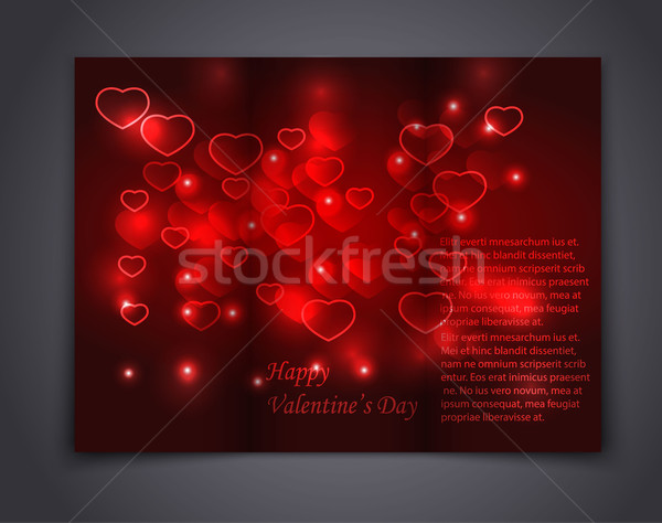 Valentine Brochure, flyer, card, and book. Vector  Stock photo © blotty