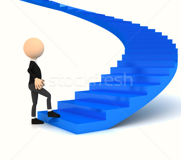 Professional carrier stair over white Stock photo © blotty