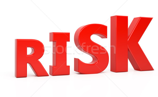 risk text 3d isolated over white background Stock photo © blotty