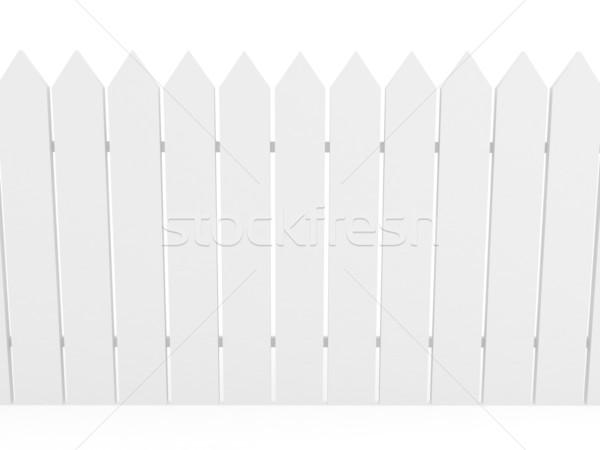 Bianco recinzione 3D reso immagine texture Foto d'archivio © blotty