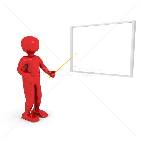 Stock fotó: 3d · személy · cég · bemutató · technológia · háttér · hálózat