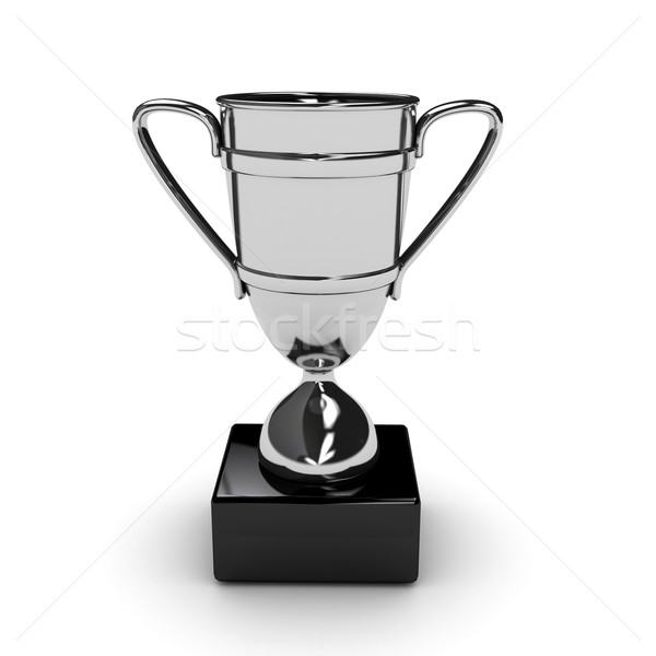 Awarding cup over white background Stock photo © blotty