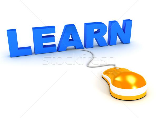 Online oktatás fehér számítógép generált kép internet Stock fotó © blotty