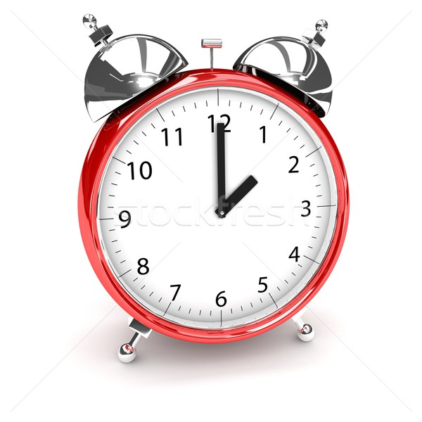 Clock over white Stock photo © blotty