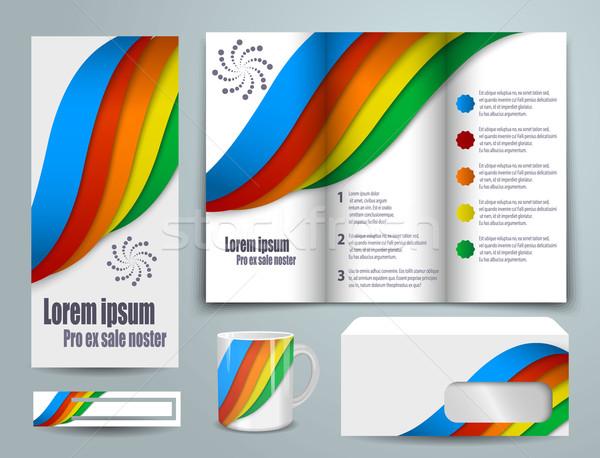 抽象的な テンプレート セット デザイン eps 10 ストックフォト © blotty