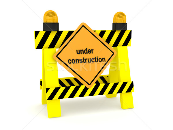 'Under construction' sign over white Stock photo © blotty