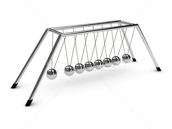 Spheres of Newton over white background Stock photo © blotty