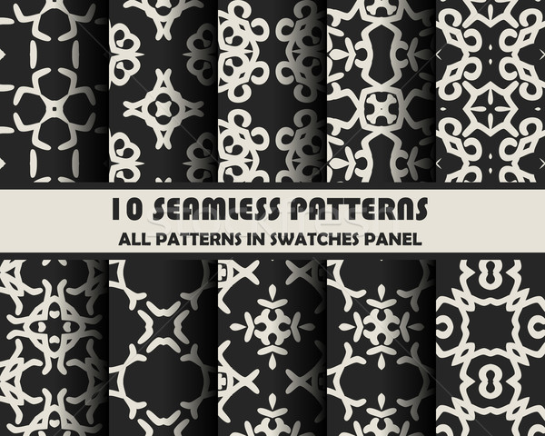 Stock photo: vector set of geometric seamless patterns for design