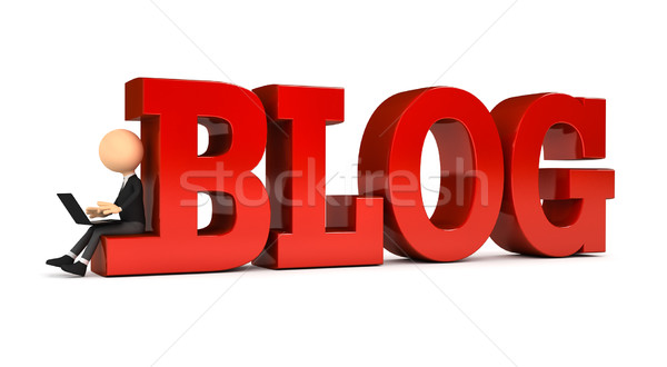 3 ª persona blog ordenador generado imagen Internet Foto stock © blotty