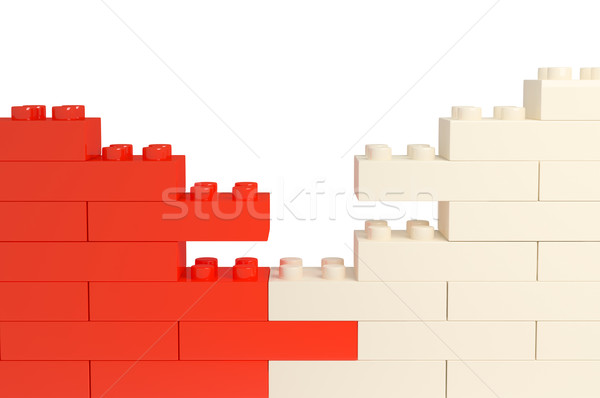 wall from color plastic blocks Stock photo © blotty