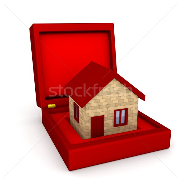 House in box over white Stock photo © blotty